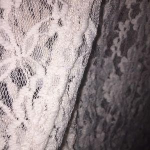 Sweaters - CREME COLORED LACE THICK TANK CARDIGAN